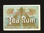 Finest Old Tea Rum Label