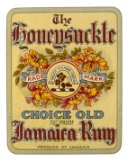 Label for The Honeysuckle Choice Old Jamaican Rum