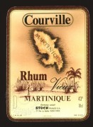 Label for Courville Rhum Vieux Martinique