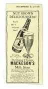 Advert for Mackeson Milk Stout
