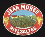 Jean Morer Rivesaltes Wine Crate Label