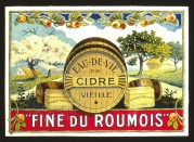 French Cider Label , Printers Sample