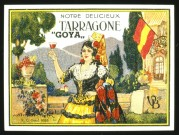 Painted Spanish Goya Wine Label