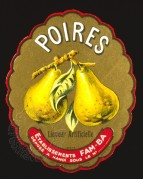 Label for French Pear Liqueur