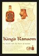 Advert for Kings Ransom Scotch