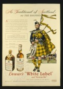 Advert for Dewars White Label Whisky