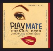 Label for Playmate Premium Beer