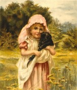A Girl with her Pet Puppy