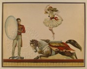 Circus act with horses