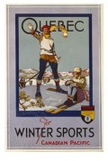Poster for winter sports at Quebec
