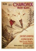Poster for Chamonix winter sports at Mont Blanc