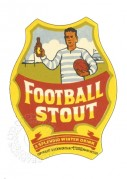 Bottle label for Football Stout