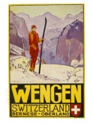 Poster for skiing in Wengen, Switzerland