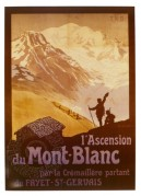 Adverting poster for the ascent of Mont Blanc