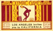 Poster stamp for 1932 Olympics