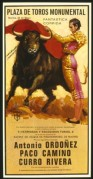 Bullfighting poster featuring Antonio Ordonez