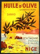 Olive Oil Label, Sanho, Nice