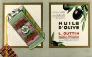 Olive Oil Advertising Card