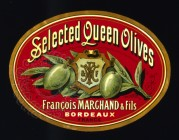 Selected Queen Olives Label