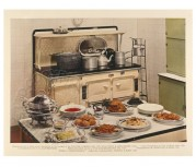 Studio photograph of a 1930s kitchen