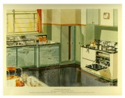 Kitchen interior decoration illustration