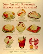Advert for Foremost's Vanilla Ice Cream