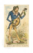 Well dressed frog with a banjo