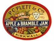 Label for P.C.Flett & Co's Apple & Bramberry Jam