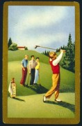 Golfing scene at the 9th hole