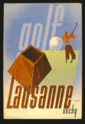 Advert for golf in Lausanne, Switzerland