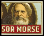 USA cigar box top featuring Morse