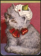 Victorian 'Cat' playing card