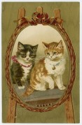 Two Kittens in a Mirror