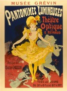 Poster for Pantomimes Lumineuses at Theatre Optique de E Reynaud