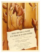 French advert for Theatre curtains