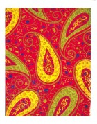 High colour red and yellow leaf pattern
