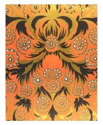 Abstract gold and orange pattern