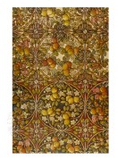 Multiple fruits pattern in browns and golds