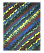 Multi-coloured zig-zag patterns
