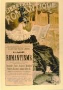 Advert for 'The Romantic Library'