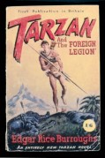 Book cover for Tarzan and the Foreign Legion