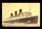 Illustration of RMS Queen Mary of the White Star Line