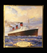 Illustration of the Queen Mary ocean liner