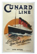 Poster for the Cunard Line