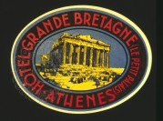 Label design for Hotel Grande Bretagne, Athens