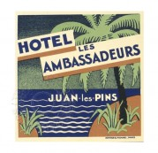 Advert for Hotel les Ambassadeurs, France