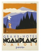 Advert for Grand Hotel, Ngamplang, Java