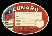 Label for Cunard Line, Stateroom Baggage