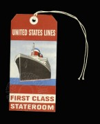First Class Stateroom Luggage Label for United States Lines