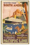 Poster for Pacific Line's Winter Tour of South America
